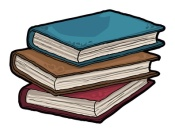 Stack of books, vector illustration