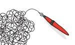 Doodling pen drawing