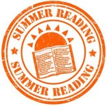 Summer reading grunge rubber stamp on white, vector illustration