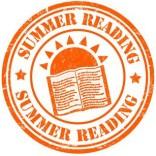 Summer reading grunge rubber stamp on white, vector illustration